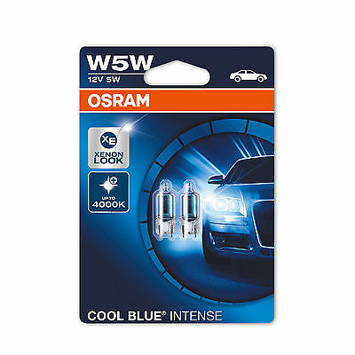 2x VW Polo 6N1 Genuine Osram Cool Blue Intense Number Plate Lamp Light Bulbs