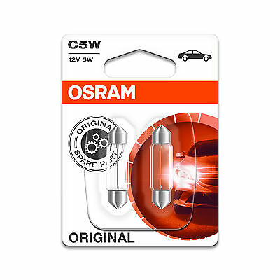 2x Mercedes B-Class W245 Genuine Osram Original Number Plate Lamp Light Bulbs
