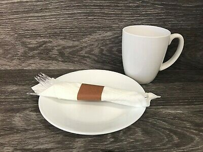 MH Paper 4.25 x 1.5 Brown Napkin Bands(2000) Self Adhesive Ships Free($0.007/pc)