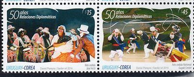 2014 joint issue Korea - Uruguay Art Music Dance candombe nongak