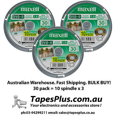 MINI DVD -R 1.4GB 30mins for HANDYCAM 8cm 30 pack Maxell