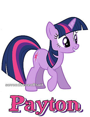 Custom Personalized My Little Pony Mane Six Twilight Sparkle T Shirt Party Gift