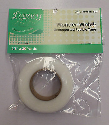 4 PACKS : LEGACY WONDER WEB FUSIBLE TAPE : Style No 807 : 20 YARDS IN EACH PACK