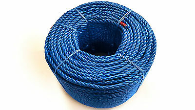 Blue Polypropylene Rope Coils, 14mm Polyrope, Sailing, Agriculture, Camping,