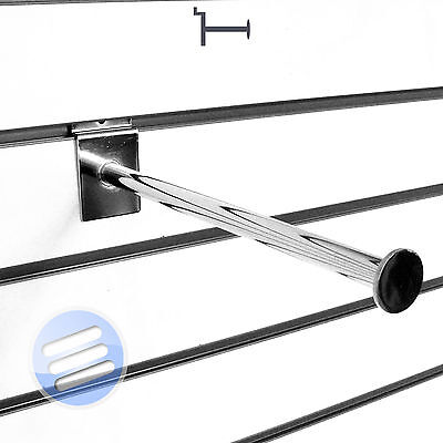 Premium! Slatwall Accessory Straight Round/ Rod Arm Hanging Display Prong Hook