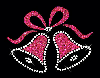Wedding Bells Rhinestone & Glitter Iron on T-Shirt Transfer Hen Party Accessory
