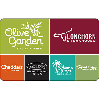 $10 / $25 Olive Garden Physical Gift Card - Standard 1st Class Mail Delivery