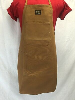 NEW Unisex STAN RAY Brown Duck Canvas Shop Apron 2-pocket Made in USA