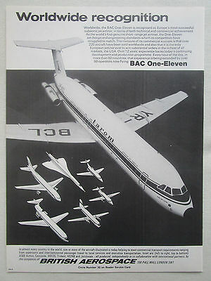 11/1977 Pub British Aerospace Bac One-Eleven Tarom Romanian Air Transport Ad