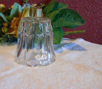 Home Interior Clear Glass Votive Candle Holder for Sconce, Starlite Pattern