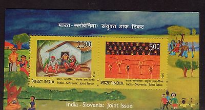 2014 joint issue India - Slovenia International Children Day Painting MNH**