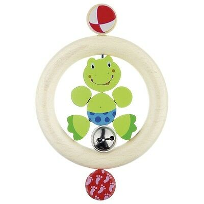 HEIMESS WOODEN Touch Ring FROG Baby Toy Teether Wood Rattle 735160