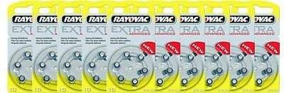 Rayovac piles auditives taille 10