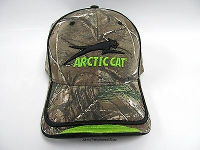 2017 Arctic Cat Aircat Camo & Lime Green Adjustable Baseball Hat Cap 5273-047