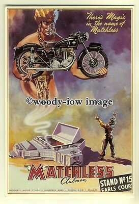 ad0035 - Matchless Clubman Motorcycle - modern advert postcard
