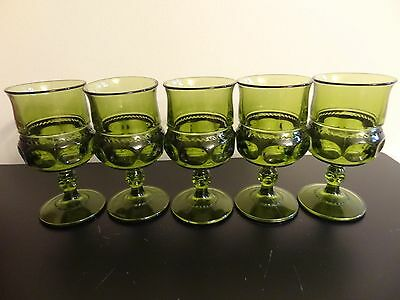 """indiana glass  king crown Goblets- Stemware 5 3/4"""""""