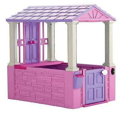 Girls Pink Playhouse Playing Toy Kids Toddler Plastic House Indoor Outdoor Play