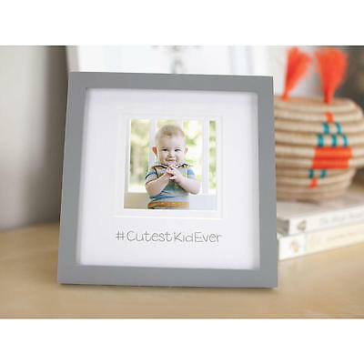 New #CutestKidEver Grey and White 3x5in Picture Insert Photo Frame