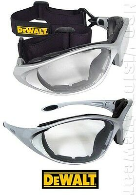 Dewalt Framework Clear Anti Fog Padded Safety Glasses Goggles Z87+