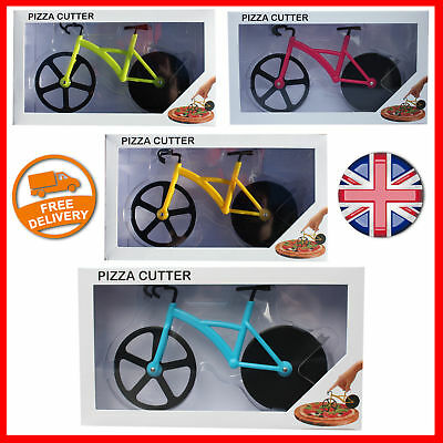 Bike Pizza Cutter Road Bicycle Chopper Slicer Kitchen Tool Stainless Steel UK