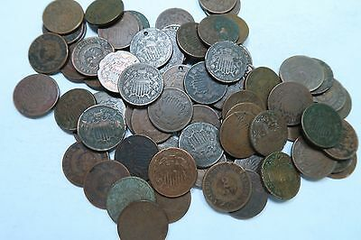 (1) Random 1864-1871 Two Cent Piece (2 Cent) // 1 Coin // WITH DATE!