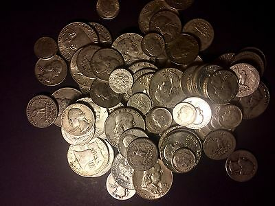 10 POUNDS U.S. MINTED Junk  Silver Coins 90%   HALVES QUARTERS,DIMES ONE 1