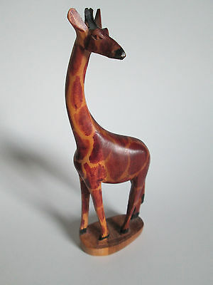 "Hand Carved Wood Giraffe 8"" Tall"