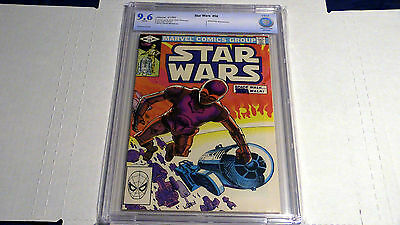 Star Wars #58 Marvel 1982 CBCS graded 9.6 CP30 and R2D2 cvr. Shira Brie Not CGC