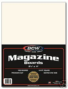 Bcw Magazine Backing Boards Pack Of 100 Count