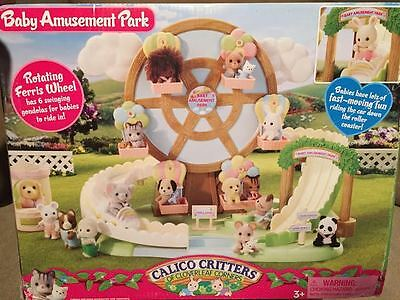 Calico Critters Baby Amusement Park Ferris Wheel Retired New in Box RARE