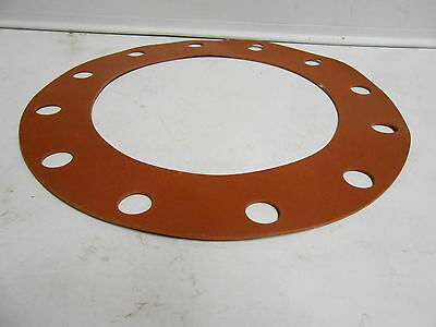 """Nos Full Face Type Flange Gasket Size 10"""" Red Rubber"""