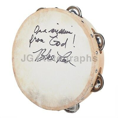 The Blues Brothers - Blue Lou Marini - Authentic Autographed Tambourine
