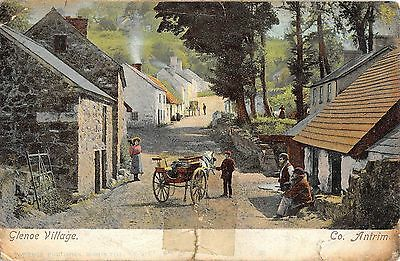Northern Ireland Postcard Glenoe Village Contrary To Regulations Post Mark L0 18