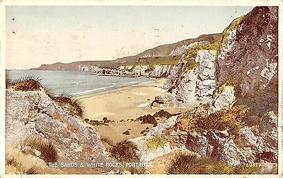 Northern Ireland Postcard The Sands & White Rocks Portrush  L0 019