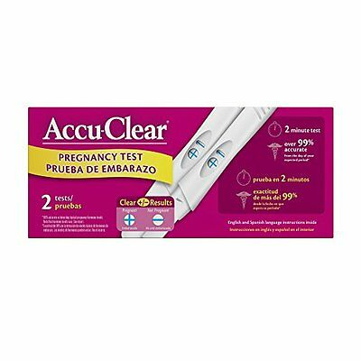 5 Pack - Accu-Clear Early Pregnancy Test Sticks 2 Each