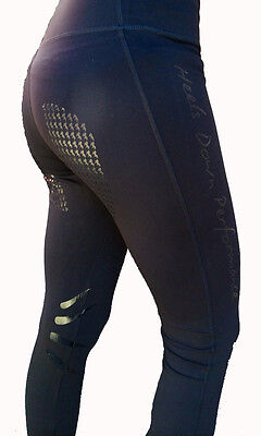 **heels Down Clothing** Equestrian Performance Tights..sizes 8-18