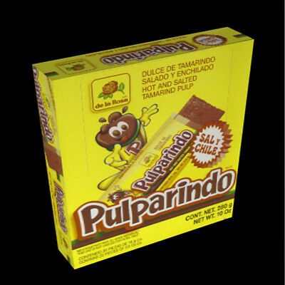 Pulparindo De La Rosa Hot Salted Tamarind  (20 Count) box