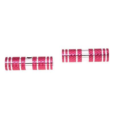 2 x BMX Mountain Bike Axle Pedal Alloy Foot Pegs Cylinder Red DW