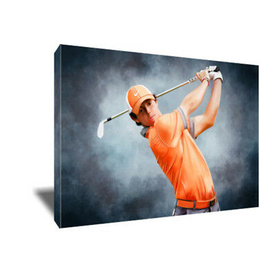 Golf Star RORY McILROY Swing Poster Photo Painting Artwork on CANVAS Wall Art