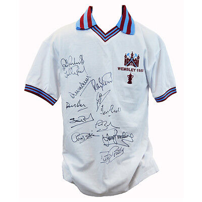 West Ham 1980 Shirt signed by 12