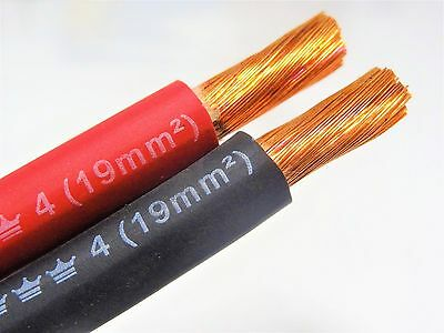 50' Excelene 4 Awg Gauge Welding Cable 25 Black 25 Red Usa Made Battery Leads