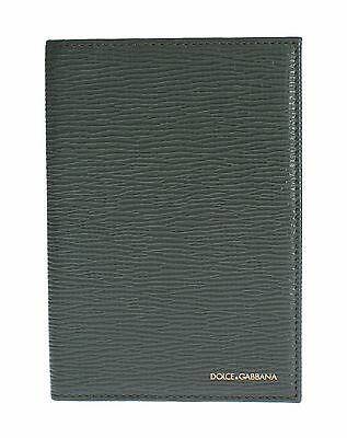 NWT $260 DOLCE & GABBANA Green Leather ID Passport Wallet Holder Case Clutch