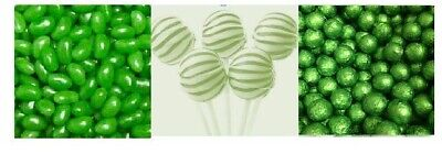Green DIY Candy Lolly Bar Wedding Party Favour