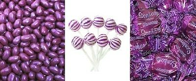 Purple DIY Candy Lolly Bar Marshmallow Gummy Heart Wedding Party Favour