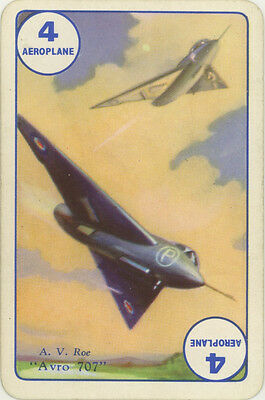 Vintage Single Swap Game Card: Avro 707. Car.