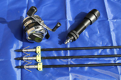 Bowfishing Combo Kit Reel, Reel Seat, 3 Arrows Bow Fishing Kit Compound Recurve