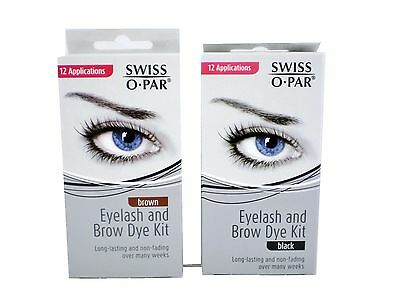 Swiss-O-Par Swissopar eye brow and eyelash dye tint kit choose black or brown