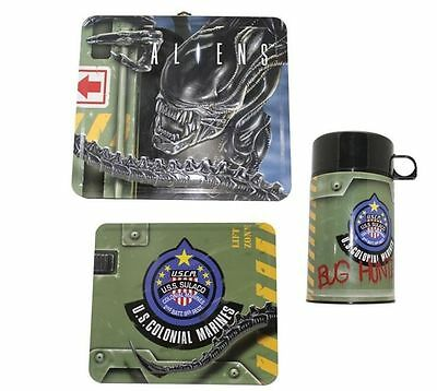 Alien Colonial Marines Lunch Box + Thermos Aliens Poster AVP Limited New Mint
