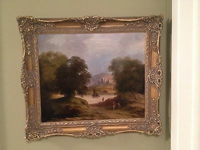 British Museum Quality 18th Century Oil Painting Romantic Landscape Castle Great