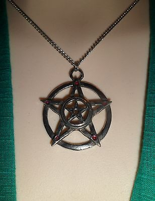 Double Pentacle Necklace -  Pagan Wiccan Gothic Goth Emo - Christmas Gift Xmas